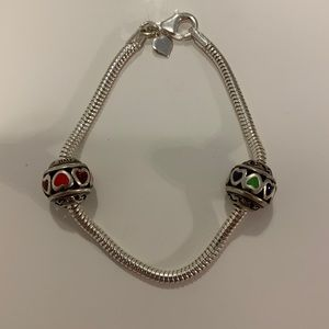 bracelet & charms (2 charms)